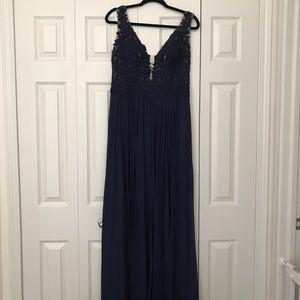 Sherri Hill Navy Blue Dress